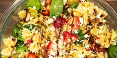 Strawberry Balsamic Pasta Salad