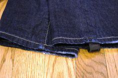 Removable stirrups for skinny jeans. No more bunching at the knees.