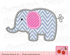 Elephant 04 Applique by CherryStitchDesign Machine Embroidery Applique, Applique Patterns, Applique Designs, Elephant Applique, Baby Elephant, Sign Design, 4x4, Patches, Etsy