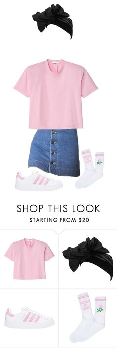 """Untitled #2932"" by dance4ever1222 ❤ liked on Polyvore featuring TIBI, Yves Saint Laurent, adidas and Yeah Bunny"