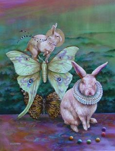 The Audition - Animal Art oil paintings by Wendy Vaughan - copyright Wendy Vaughan Alice Rabbit, Rabbit Art, Lapin Art, Bunny Art, Pet Costumes, Pop Surrealism, American Artists, Beautiful Creatures, Art Images