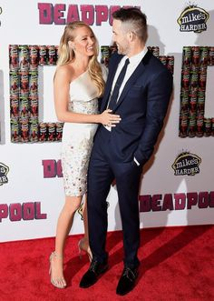 Blake Lively and Ryan Reynolds hit their first red carpet on Monday, Feb. 8, since becoming parents to baby James back in December 2014 — see the glam photos here