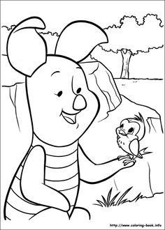 Winnie the pooh Coloring Pages Coloring Sheets For Kids, Disney Coloring Pages, Free Printable Coloring Pages, Colouring Pages, Free Coloring, Adult Coloring, Coloring Books, Cute Winnie The Pooh, Walt Disney Characters