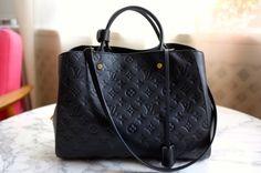 Have it ...love it...Louis Vuitton Montaigne GM Empreinte in Noir