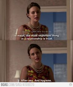 Blair being Blair. I love her!
