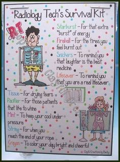 Xray Tech survival kit, how cute! Radiology Schools, Radiology Student, Radiology Humor, Medical Humor, Nurse Humor, Radiation Therapist, Radiologic Technology, Rad Tech, Tech Humor