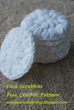 Crochet Cotton Facial Scrubbies