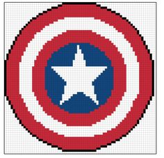 Embroidery : Captain America's Shield cross stitch pattern