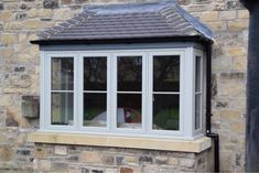 Browse thousands photos of Casement Windows that will inspire you. Find ideas and inspiration for Casement Windows to add to your own home. Stone Cottage, Bay Window Exterior, Windows, House Front, Windows And Doors, Windows Exterior, House Exterior, Casement Windows, Upvc Windows