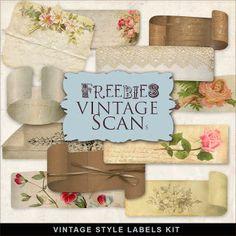 Etiquetas Freebies estilo vintage