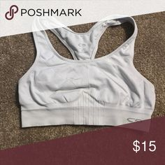 Champion sports bra! Excellent condition! White compression sports bra! Excellent condition! Everything must go by 8/20! Smoke free, pet free home! Any flaws disclosed! Reasonable offers usually accepted! Bundle to receive a private discount! Champion Intimates & Sleepwear Bras