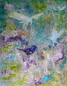 """Saatchi Art Artist Igor Eugen Prokop; Painting, """"THE  LAST  SONG OF  THE  BAIT  BIRD"""" #art"""