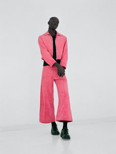 Pretty in Pink Men's Wear - Left: Gucci shirt, $1,040, gucci.com. Marni pants, $790, barneys.com. Falke socks, $28, - The New York Times