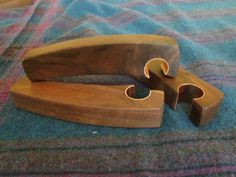 Bottle opener handcrafted from walnut. door ShortBenchWoodWorks
