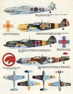 Messerschmitt Bf 109s. Flying Review International, 1963.