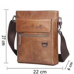 d98e0666b6c US  54.53  Aliexpress.com   Buy CONTACT S New Arrival Famous Brands Genuine  Leather Messenger Bags Crossbody Bag Briefcase Designer High Quality  Shoulder ...