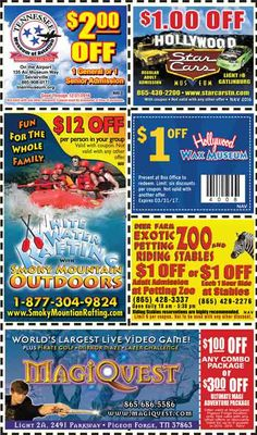 Discount coupons for pigeon forge and gatlinburg tn