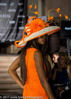 Kentucky Derby Hat. Ivory hat. Orange hat. Royal Ascot hat.