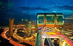 How cool is this view? Singapore flyer..largest ferris wheel in the world.