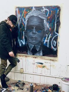 here you can see my new composing of Karl Lagerfeld! R.I.P ! Big Inspiration! . . . . . . .karl lagerfeld, r.i.p. karl lagerfeld, portraitart, portraitpaiting, painting, art ,artistic, artisticportrait ,expressionism ,expressionpainting ,famous portraitpainting, dario de siena, urbanart, streetart, atelierwork, artstudio My Art Studio, Siena, Artist Painting, Expressionism, Art Studios, Karl Lagerfeld, My Arts, Portrait, Big