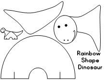 Printable dinosaurs from Making Learning Fun.