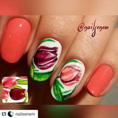 #Repost @nailsenem with @repostapp.  Freehand tulips #freehandnailart #scra2ch #flowers #nailart #ojesizgezmeyenlerkulubu #nailartclub #nailpolish #nailpolishaddict #tulips #naturelovers #nailswag #nailartaddict #naildesign #nailartwow #nailartpromote #nailblogger #nailsart #nailstagram #naillacquer #nailpromote #instanails #manicure by nails_addicts_group
