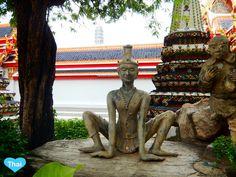 A statue of Rishi practicing  physical exercise #LoveThaiMaak #Thai #temple #Watpho #Bangkok #Thailand