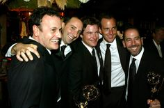Pin for Later: Relive the Star-Studded Emmys' Most Exciting Moments!  Arrested Development pals Tony Hale, Jason Bateman, and Will Arnett shared a hug in 2004.