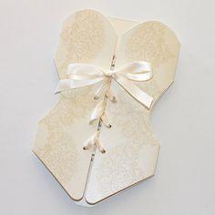 Lingerie Corset Bridal Shower Invitation by EmbellishedPaperie