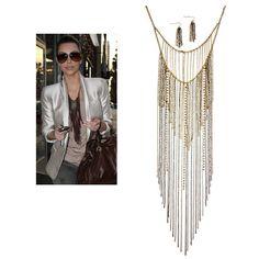 Allison+Long+Fringe+Necklace+in+Gold $28.75