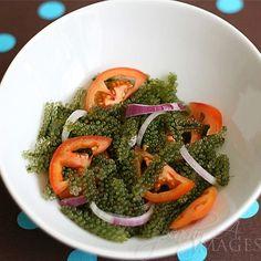 A seaweed called Lato (Lato Salad), #Called #Lato #Salad #SEAWEED Fish Salad, Seaweed Salad, Peach Kitchen, Fried Pork Chops, Fried Fish, Filipino Recipes, Broccoli, Good Food, Appetizers