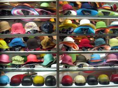 Hat shop in Hanoi, Vietnam - Photo taken by BradJill