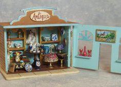 1:144 scale Antique Shop ~ Interior.  Patricia Paul