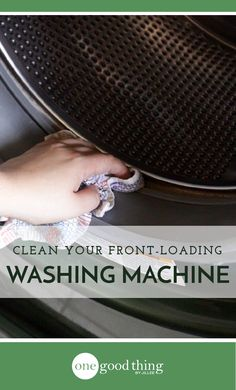 Front-loading washing machines need to cleaned regularly to prevent yucky buildup and unpleasant smells. Just follow these 5 easy steps!
