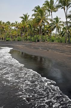Black Sand Beach, Big Island, Hawaii.