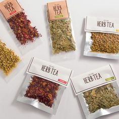 This food spice Packaging bags are used on a daily basis by a large number of consumers, and they require a package that can reduce the production costs. Spices Packaging, Fruit Packaging, Food Packaging Design, Coffee Packaging, Tea Brands, Tea Recipes, Herbalism, Food And Drink, Herbs