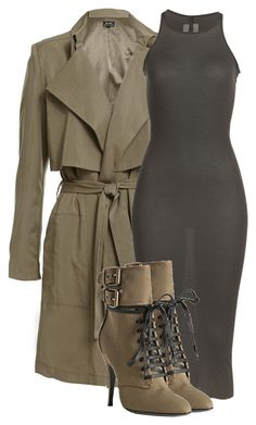 A fashion look from October 2015 featuring rick owens dress, brown coat and pointy toe booties. Browse and shop related looks. Classy Outfits, Chic Outfits, Fall Outfits, Fashion Outfits, Womens Fashion, Fashion Trends, Fashion Shoes, Traje Casual, Mode Outfits