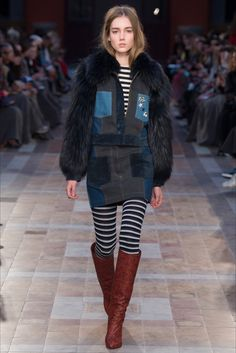 Sonia Rykiel Fall 2016 Ready-to-Wear Collection Photos - Vogue Runway Fashion, High Fashion, Winter Fashion, Fashion Show, Womens Fashion, Fashion 2016, Fur Fashion, Fashion Details, Sonia Rykiel