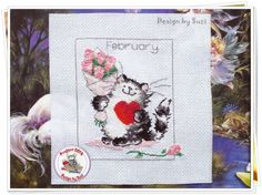 Project 2014: 4/40 February (Margaret Sherry-Calendar Cats)