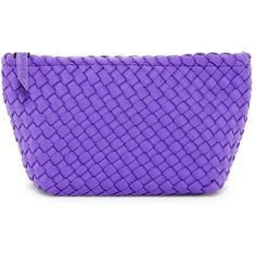 Naghedi Portofino Small Cosmetic Bag ($17) ❤ liked on Polyvore featuring beauty products, beauty accessories, bags & cases, bags, plum, travel toiletry case, cosmetic bags, makeup purse, dop kit and toiletry bag