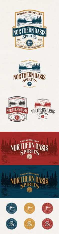 Vintage Logo for Schierl Brothers Northern Oasis Spirits | 99designs