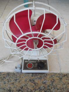 Ventilador Britaninha 3 Velocidades 20cm Anos 80 Antigo.