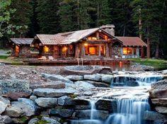 Cabin Located in Yellowstone Club - Big Sky, Montana by Tanya Gupta.