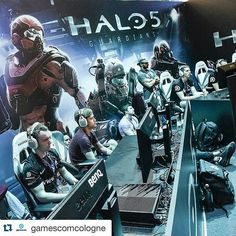 @Regrann from @vodels -  #Repost @gamescomcologne with @repostapp.  Gamescom is the place where gamers meet not only with each other but with the companies who make their favorite games. At Gamescom you can watch and TRY the new developments such as #halo5 at #gamescom15! #celebratethegames #gamescom15 #games #gaming #cologne #festival #technology #Regrann #gameon