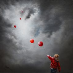 Artist: Bob Barker Painting: Time to Fly Illustration Photo, Illustrations, Digital Illustration, Art Pictures, Photos, Miss You Mom, A Kind Of Magic, Artist Names, Photo Manipulation