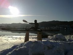 Canoeist monument in the city center Flekkefjord, Norway. More photos: Wirtualna Norwegia pl