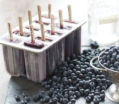 Blueberries, moonshine and a cool, frozen dessert. Could it be summertime?