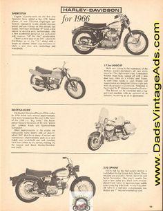 Harley-Davidson Models for 1966