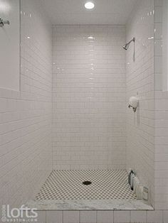 Rectangle Tile Shower Stall Designs Shower Heads And A Separate Handheld Sp