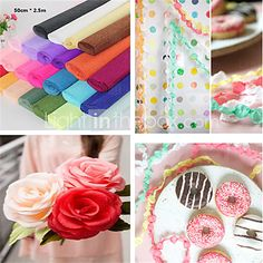 Jumbo Streamers Crepe Paper for Wedding Party Decoration(2.5m*50cm) - USD $2.69 ! HOT Product! A hot product at an incredible low price is now on sale! Come check it out along with other items like this. Get great discounts, earn Rewards and much more each time you shop with us!